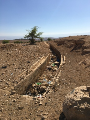historic aqueduct dried up