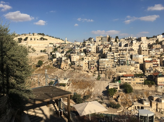 Mount of Olives on the left