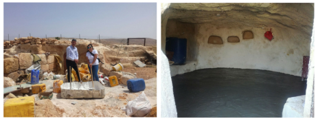 $2000 allows us to renovate a cave for living space for those who continue to be displaced